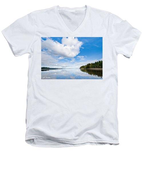 Clouds Reflected In Puget Sound Men's V-Neck T-Shirt