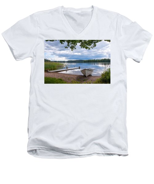 Cloudy Summer Day Men's V-Neck T-Shirt