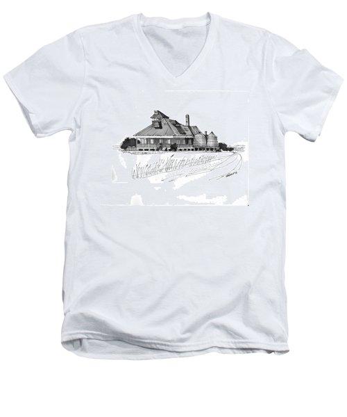 Coast Guard Station 1 Ocracoke 1970s Men's V-Neck T-Shirt