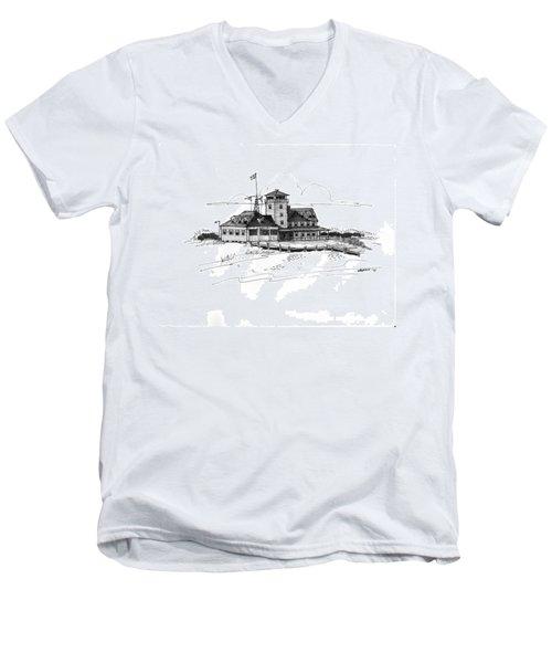 Coast Guard Station 2 Ocracoke 1970s Men's V-Neck T-Shirt