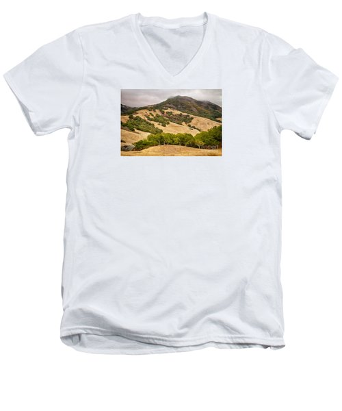 Coast Hills Men's V-Neck T-Shirt by Alice Cahill