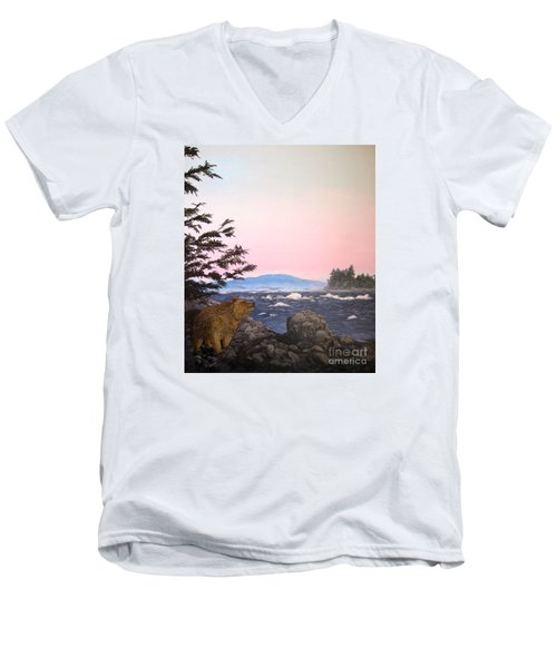 Coastal Bear Men's V-Neck T-Shirt