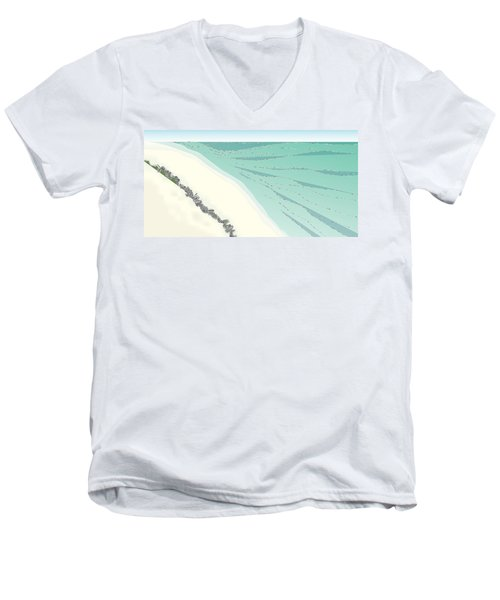 Coastal Wash Men's V-Neck T-Shirt by Kevin McLaughlin