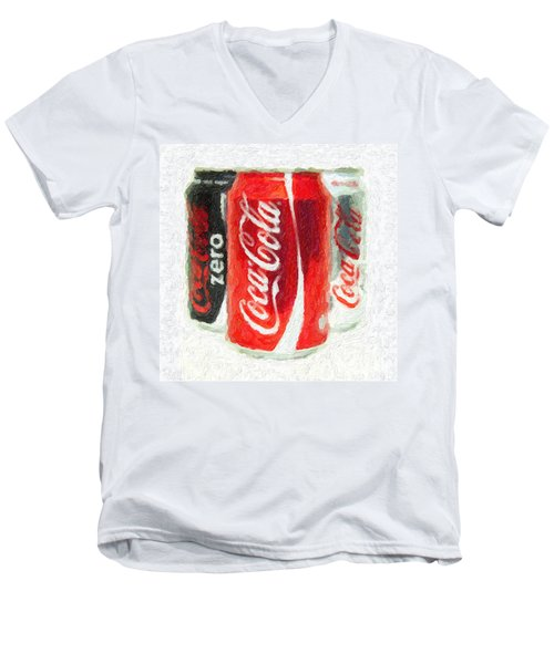 Coca Cola Art Impasto Men's V-Neck T-Shirt