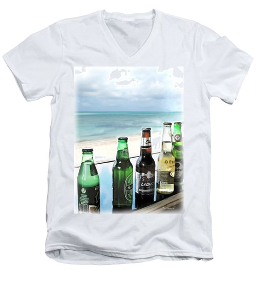 Cold Beers In Paradise Men's V-Neck T-Shirt