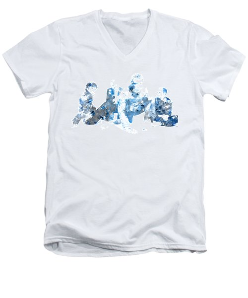 Coldplay Men's V-Neck T-Shirt by Brian Reaves