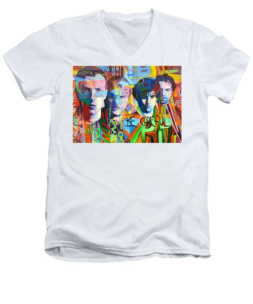 Coldplay Men's V-Neck T-Shirt by Joshua Morton