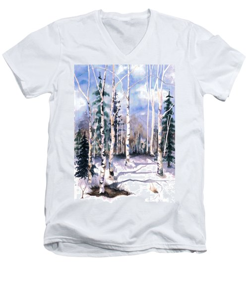 Colorado Aspens 2  Men's V-Neck T-Shirt