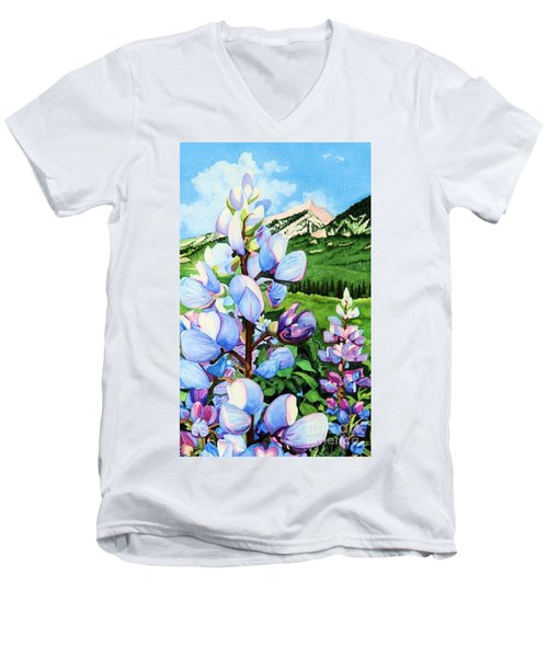 Colorado Summer Blues Close-up Men's V-Neck T-Shirt