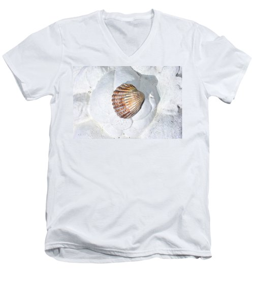 Colored Seashell  Men's V-Neck T-Shirt