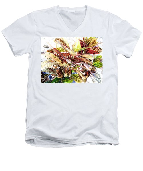 Colorful - Croton - Plant Men's V-Neck T-Shirt