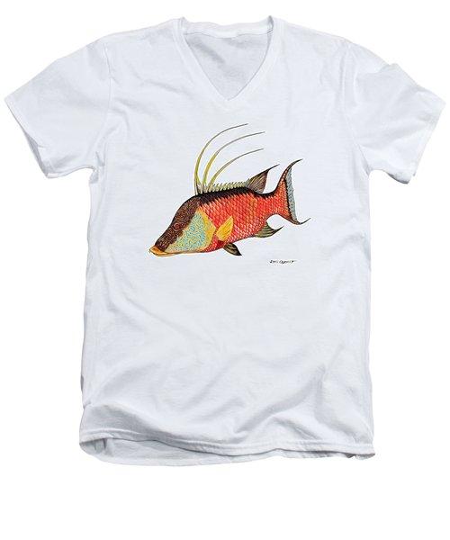 Colorful Hogfish Men's V-Neck T-Shirt