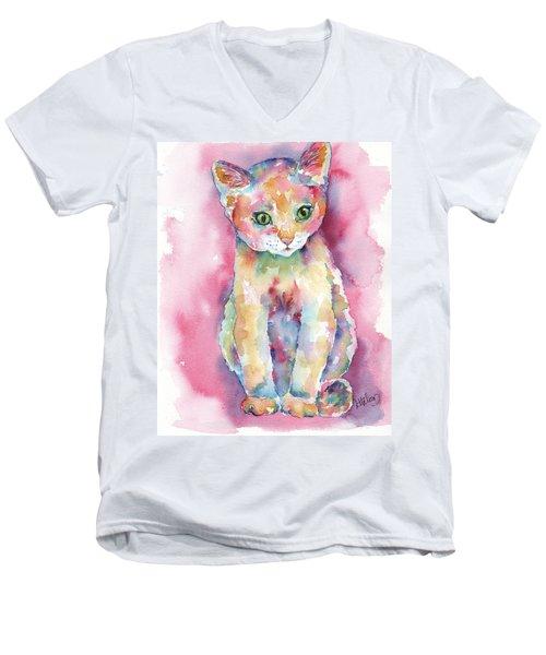 Colorful Kitten Men's V-Neck T-Shirt