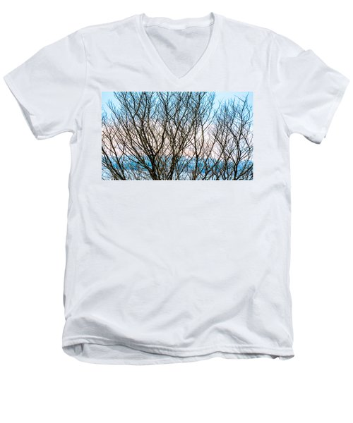 Colorful Maze  Men's V-Neck T-Shirt