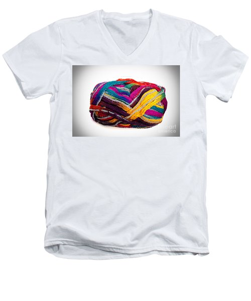 Colorful Yarn Men's V-Neck T-Shirt