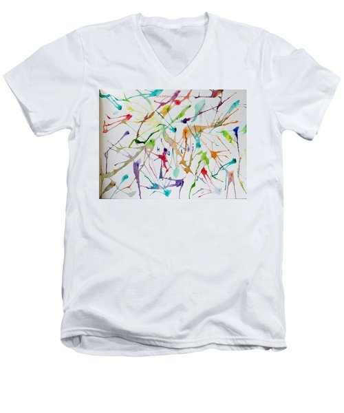 Colourful Holi Men's V-Neck T-Shirt by Sonali Gangane