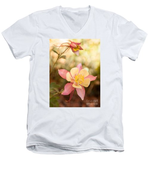 Men's V-Neck T-Shirt featuring the photograph Columbine by Roselynne Broussard