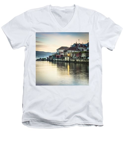 Combarro Pontevedra Galicia Spain Men's V-Neck T-Shirt by Pablo Avanzini