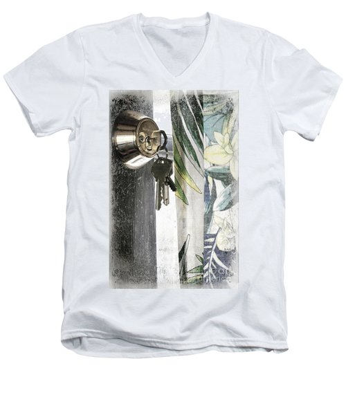 Men's V-Neck T-Shirt featuring the photograph Come Back Soon by Ellen Cotton