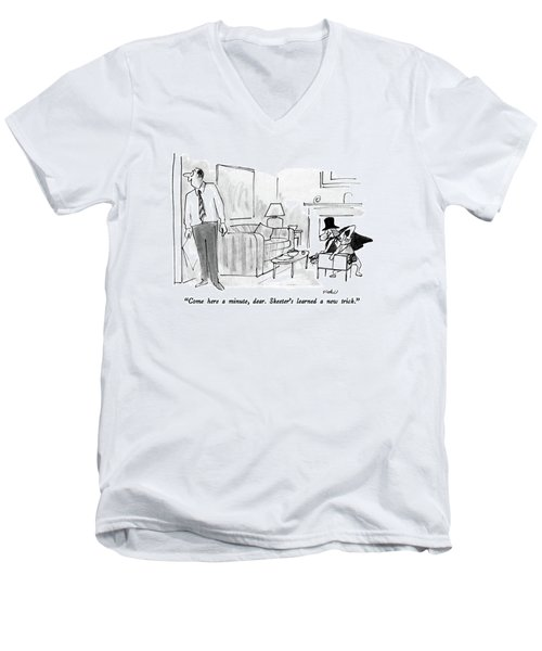 Come Here A Minute Men's V-Neck T-Shirt