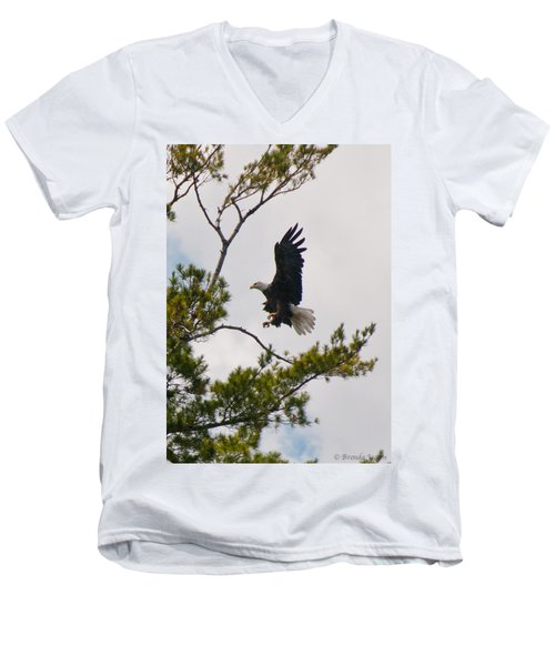 Coming In For A Landing Men's V-Neck T-Shirt