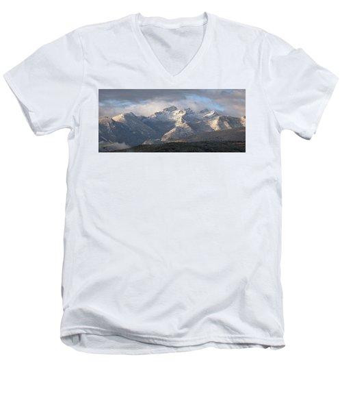 Men's V-Neck T-Shirt featuring the photograph Como Peaks Montana by Joseph J Stevens