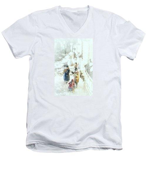 Concert In The Snow Men's V-Neck T-Shirt