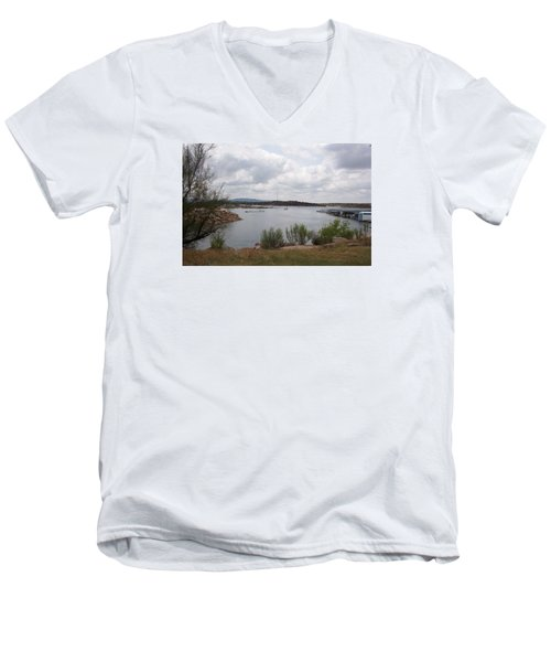 Conchas Dam Men's V-Neck T-Shirt by Sheri Keith