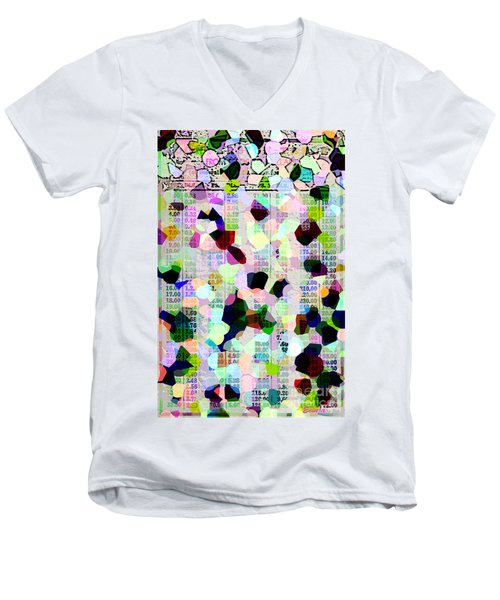 Confetti Table Men's V-Neck T-Shirt by Ecinja Art Works