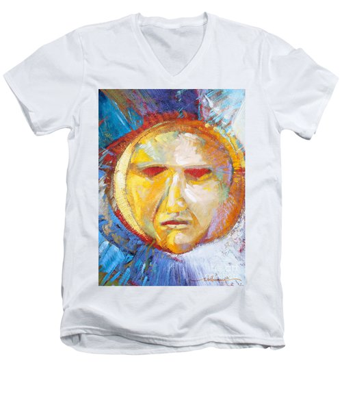 Contemplating The Sun Men's V-Neck T-Shirt