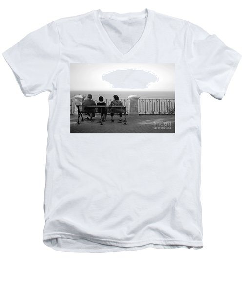 Conversations By The Sea Men's V-Neck T-Shirt