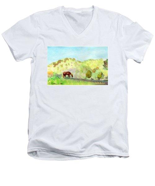 Cool Drink Men's V-Neck T-Shirt by C Sitton