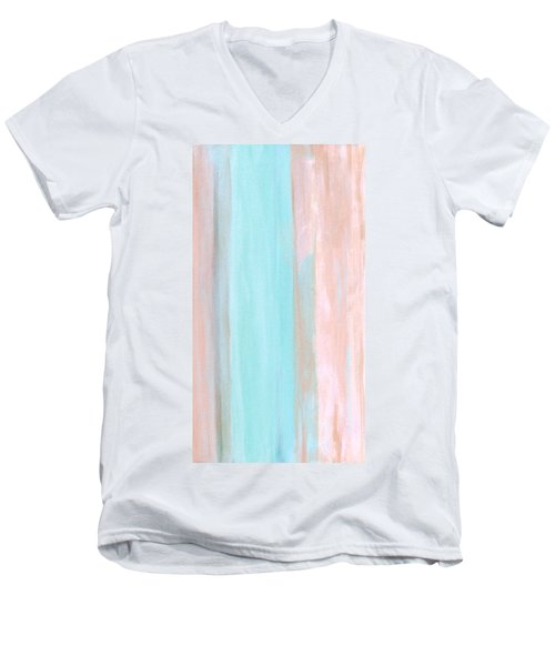 Men's V-Neck T-Shirt featuring the painting Cool Jade by Stephanie Grant