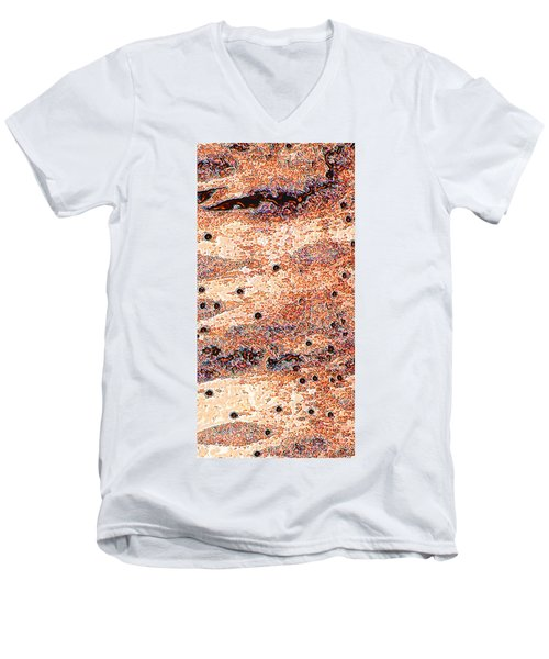 Men's V-Neck T-Shirt featuring the photograph Copper Lake 2 by Stephanie Grant