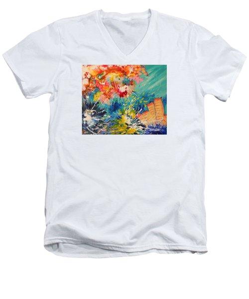 Coral Madness Men's V-Neck T-Shirt