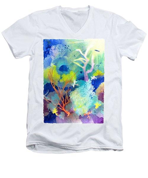 Coral Reef Dreams 1 Men's V-Neck T-Shirt