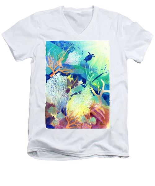 Coral Reef Dreams 2 Men's V-Neck T-Shirt