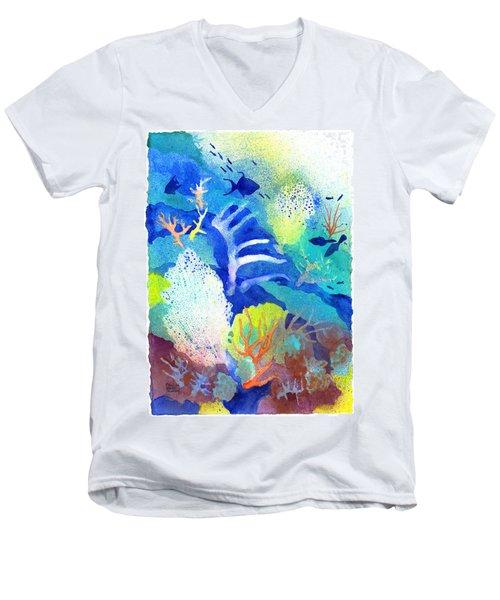 Coral Reef Dreams 3 Men's V-Neck T-Shirt