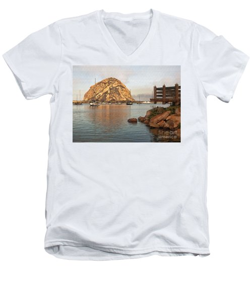 Corner Harbor Men's V-Neck T-Shirt