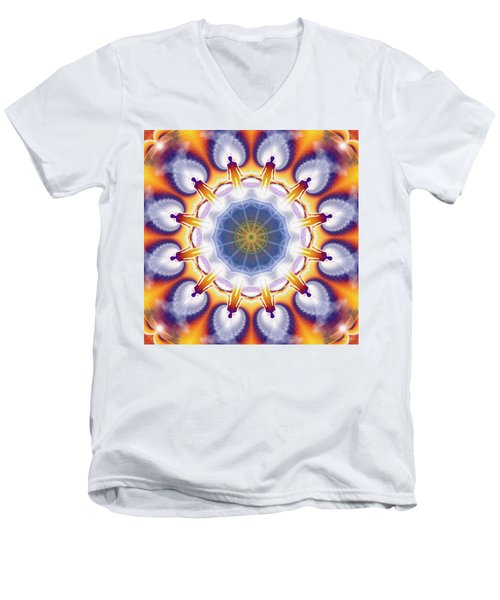 Cosmic Spiral Kaleidoscope 34 Men's V-Neck T-Shirt