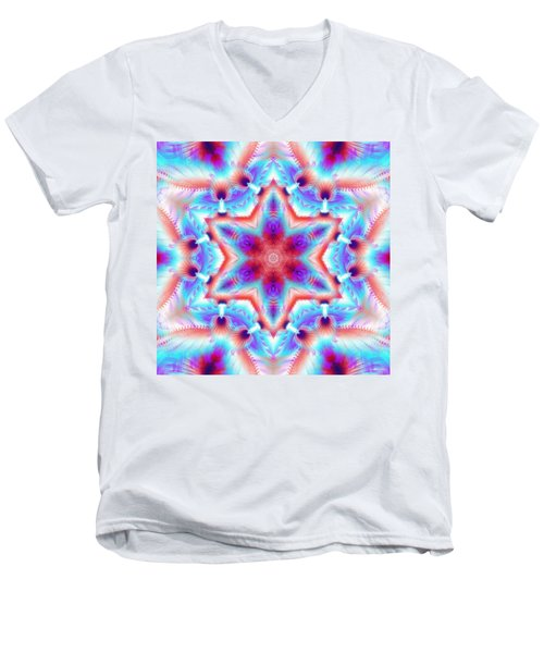 Cosmic Spiral Kaleidoscope 45 Men's V-Neck T-Shirt