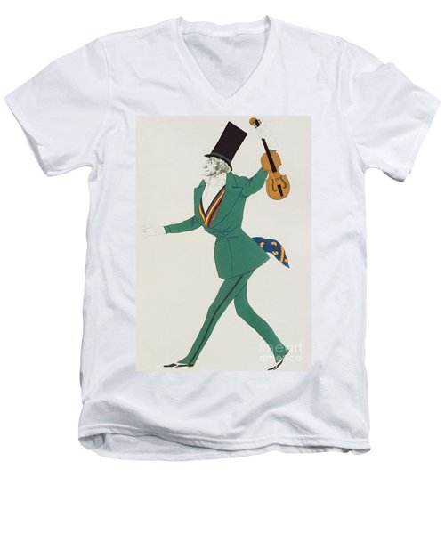 Costume Design For Paganini In The Enchanted Night Men's V-Neck T-Shirt