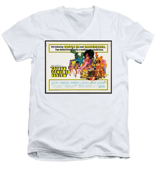 Cotton Comes To Harlem Poster Men's V-Neck T-Shirt by Gianfranco Weiss