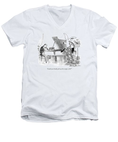 Could You Kindly Pick Up The Tempo A Bit? Men's V-Neck T-Shirt