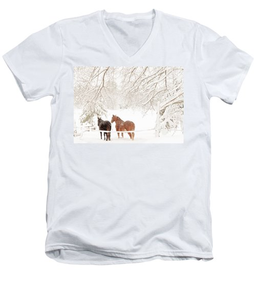 Country Snow Men's V-Neck T-Shirt