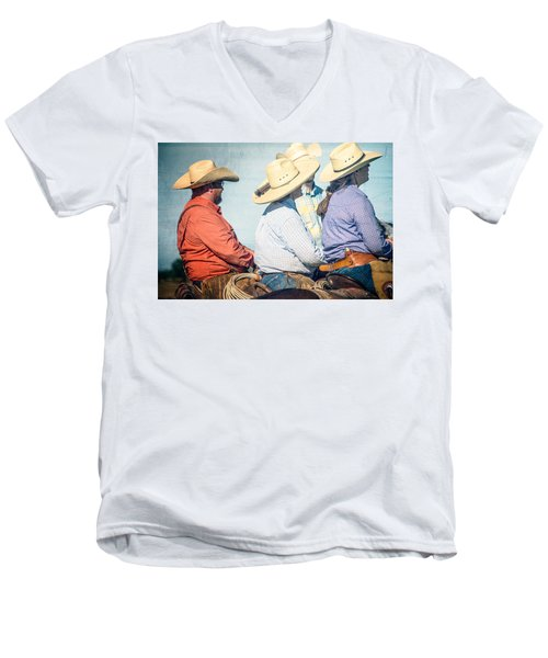 Men's V-Neck T-Shirt featuring the photograph Cowboy Colors by Steven Bateson