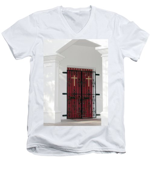 Key West Church Doors Men's V-Neck T-Shirt