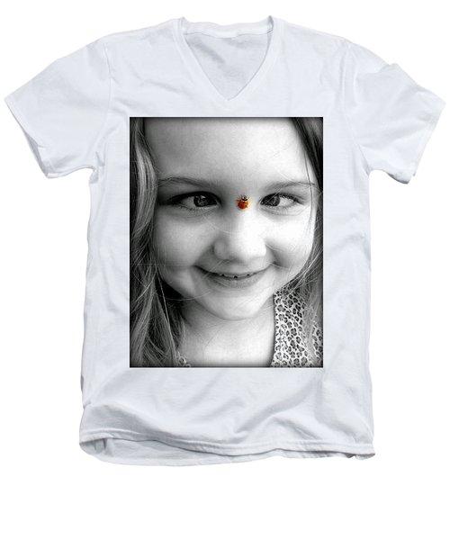 Cross-eyed For Ladybugs Men's V-Neck T-Shirt