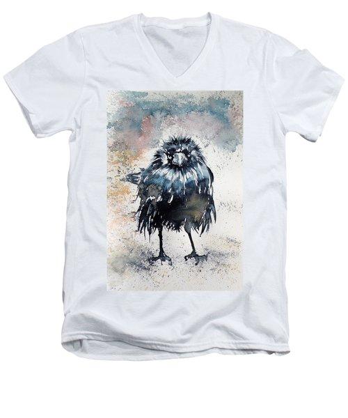Crow After Rain Men's V-Neck T-Shirt