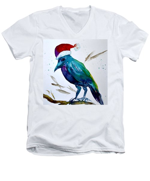 Crow Ho Ho Men's V-Neck T-Shirt by Beverley Harper Tinsley